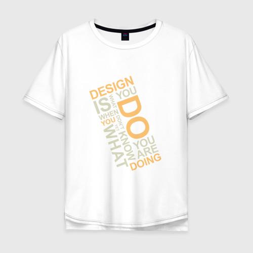 Мужская футболка хлопок Oversize Суть дизайна
