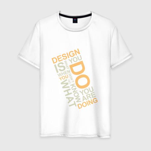 Мужская футболка хлопок Суть дизайна