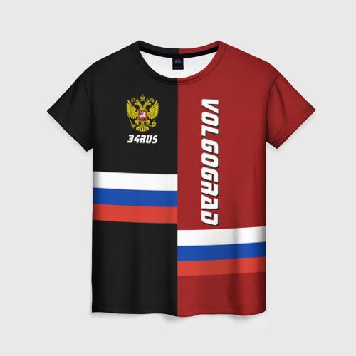 Женская футболка 3D VOLGOGRAD (Волгоград)
