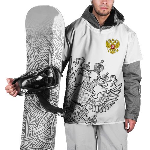 Накидка на куртку 3D Герб РФ White