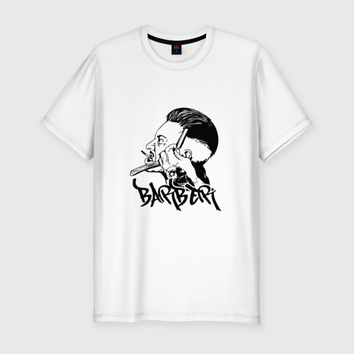 Мужская футболка хлопок Slim BARBER