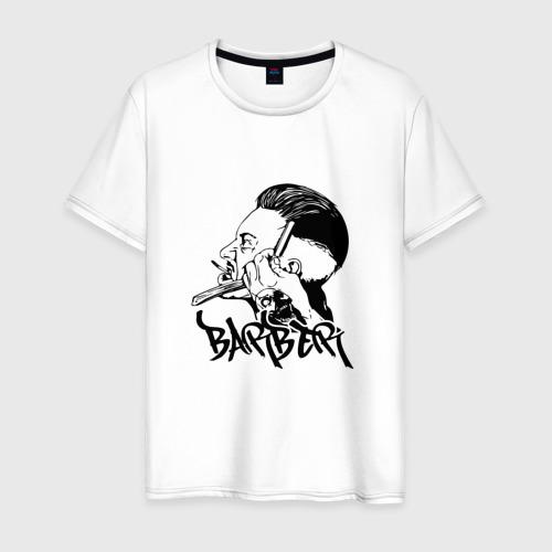 Мужская футболка хлопок Барбер Barber black