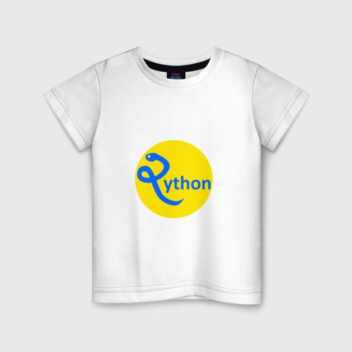Детская футболка хлопок Python - язык программирования