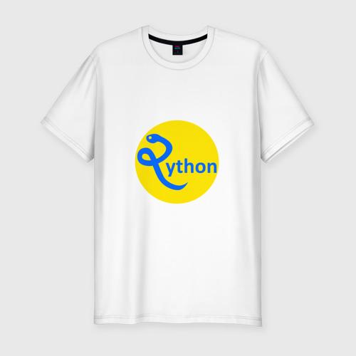 Мужская футболка хлопок Slim Python - язык программирования