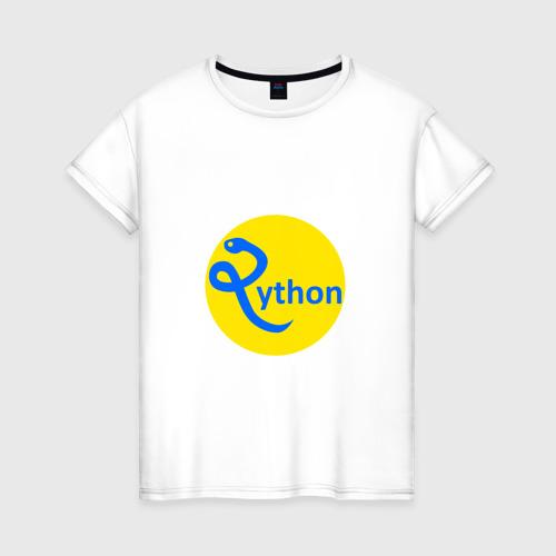 Женская футболка хлопок Python - язык программирования