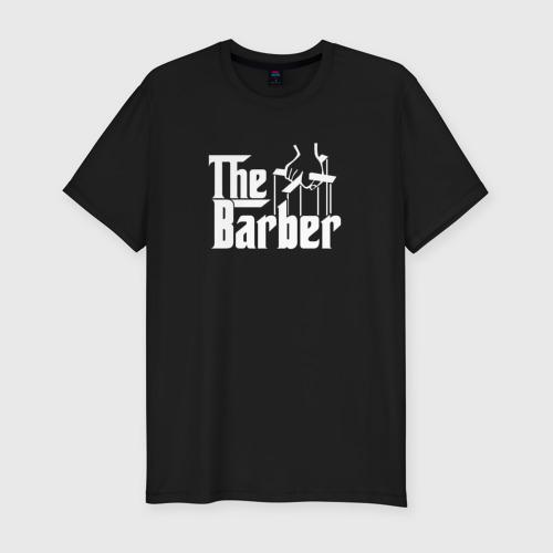 Мужская футболка хлопок Slim The Barber godfather