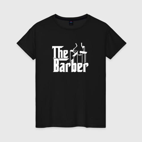 Женская футболка хлопок The Barber godfather
