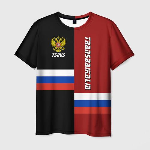 Мужская футболка 3D Transbaikalia (Забайкалье)