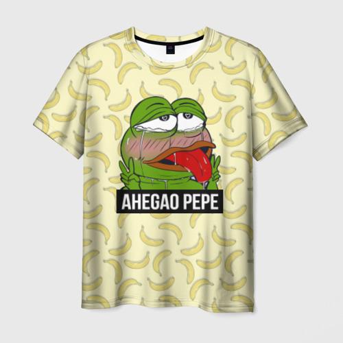 Мужская футболка 3D Ahegao Pepe