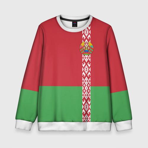 Детский свитшот 3D Белоруссия, лента с гербом