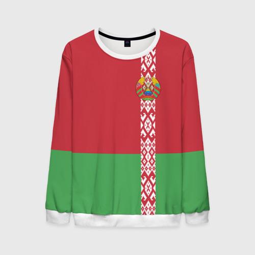 Мужской свитшот 3D Белоруссия, лента с гербом