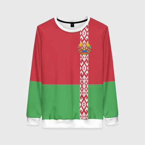 Женский свитшот 3D Белоруссия, лента с гербом