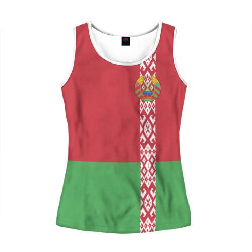 Женская майка 3D Белоруссия, лента с гербом