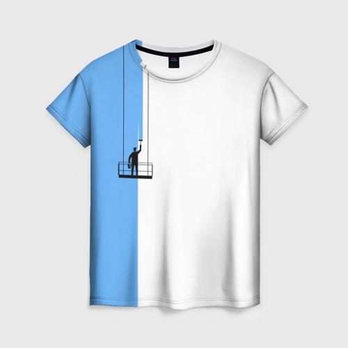 Женская футболка 3D Маляр