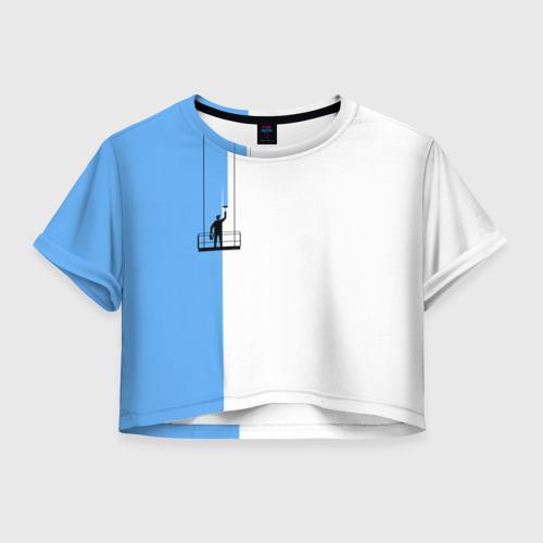 Женская футболка Crop-top 3D Маляр