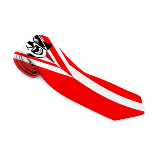 Галстук 3D Красно-белый воин