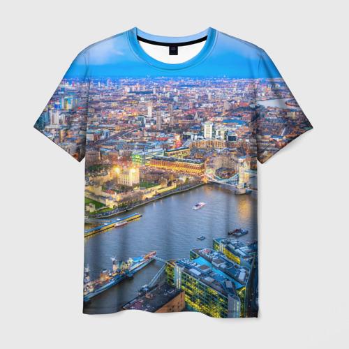 Мужская футболка 3D Лондон