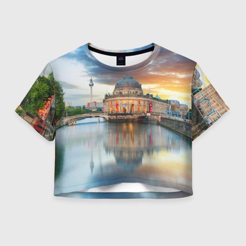 Женская футболка Crop-top 3D Берлин (Германия)