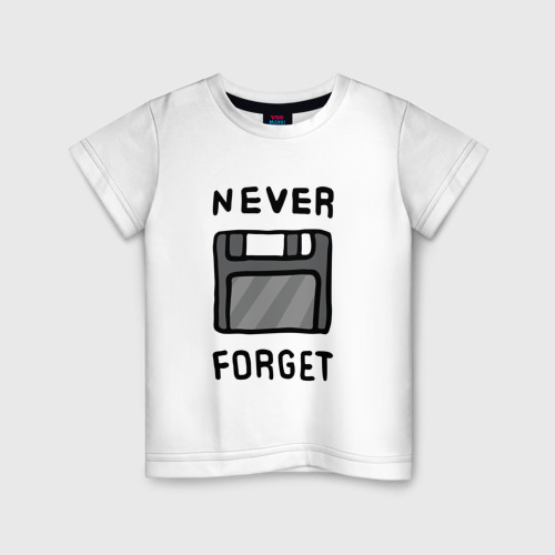 Детская футболка хлопок Дискета