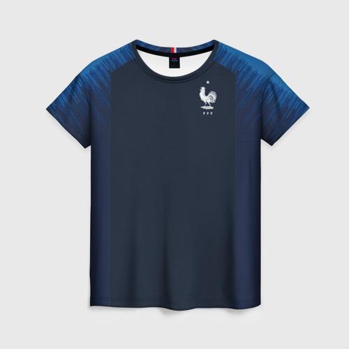 Женская футболка 3D France home WC 2018