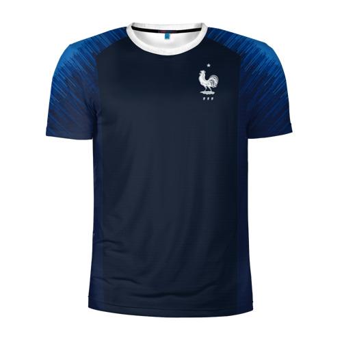 Мужская футболка 3D спортивная France home WC 2018