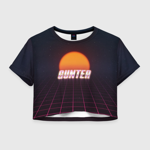 Женская футболка Crop-top 3D Gunter (Пассхантер)