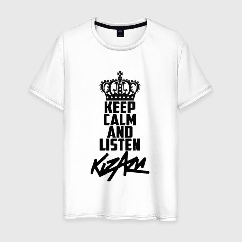 Мужская футболка хлопок Keep calm and listen Kizaru