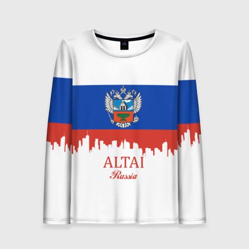Женский лонгслив 3D ALTAI Russia