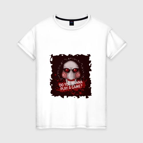 Женская футболка хлопок Сыграем в игру?