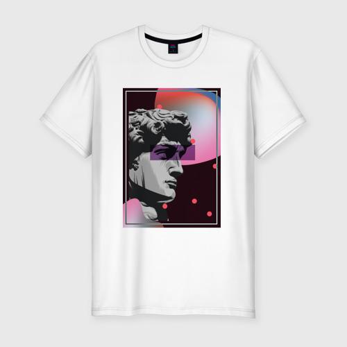 Мужская футболка хлопок Slim Давид