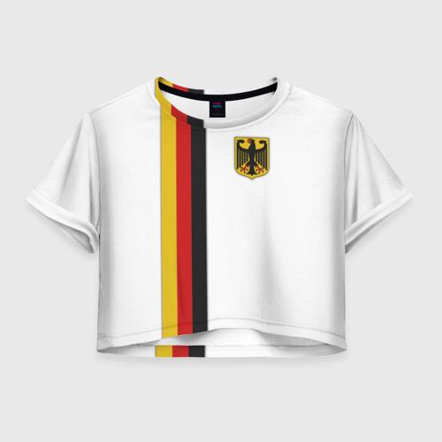 Женская футболка Crop-top 3D I Love Germany