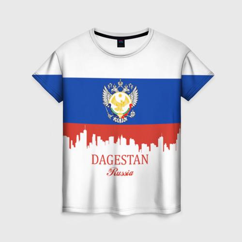 Женская футболка 3D DAGESTAN (Дагестан)