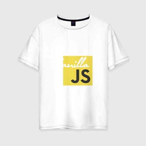 Женская футболка хлопок Oversize Vanilla JS
