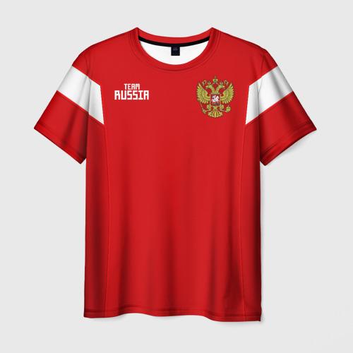 Мужская футболка 3D Сборная России 2018 Акинфеев