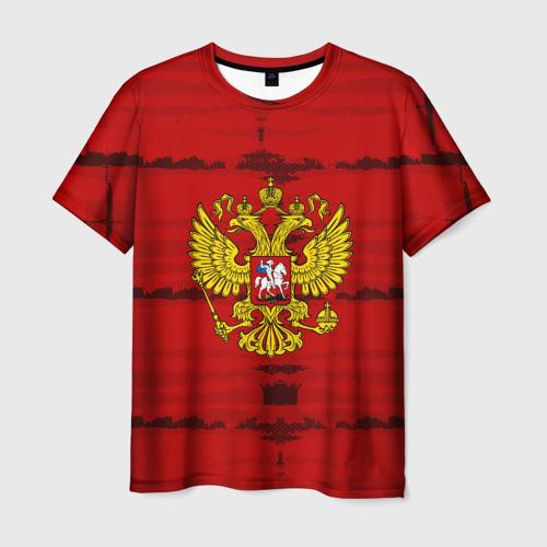 Мужская футболка 3D Russia Imperium RED