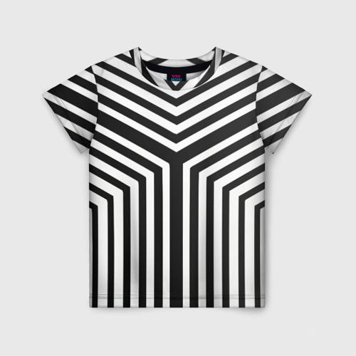 Детская футболка 3D Кибер Зебра