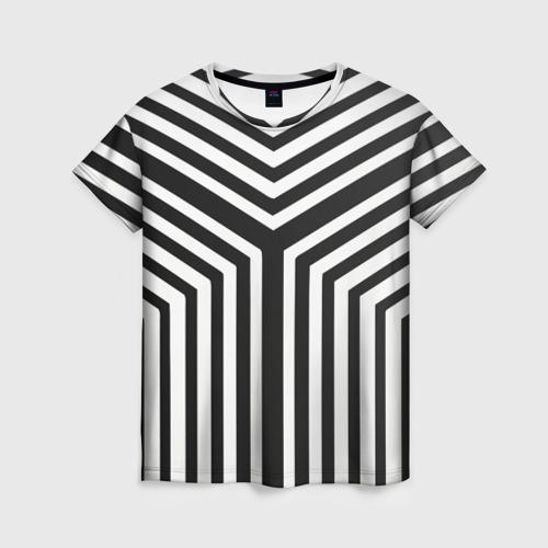 Женская футболка 3D Кибер Зебра