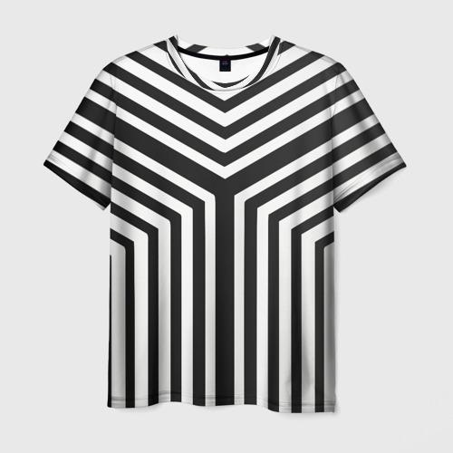 Мужская футболка 3D Кибер Зебра