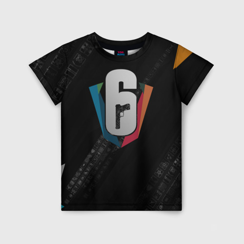 Детская футболка 3D RAINBOW SIX SIEGE CYBERSPORT