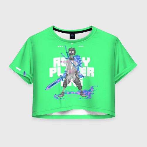 Женская футболка Crop-top 3D Parzival