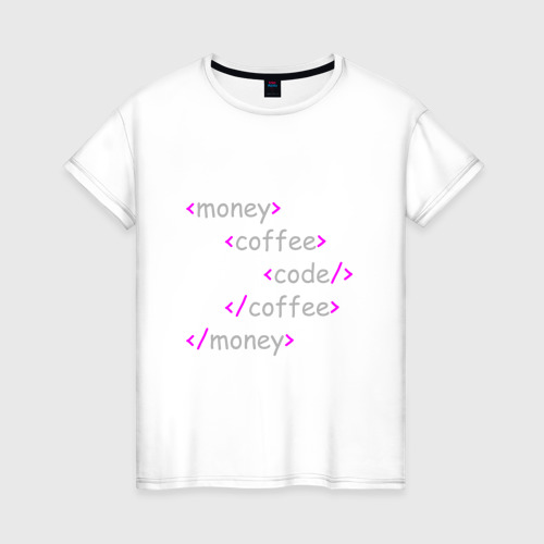Женская футболка хлопок Front-end разработка