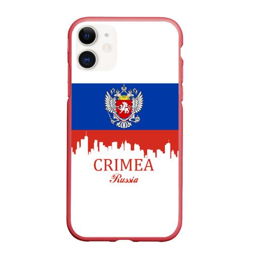 Чехол для iPhone 11 матовый Crimea (Крым)