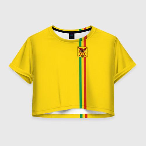 Женская футболка Crop-top 3D Забайкальский край
