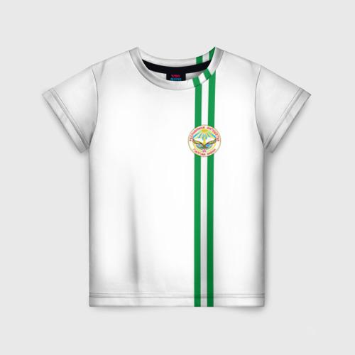 Детская футболка 3D Ингушетия, лента с гербом