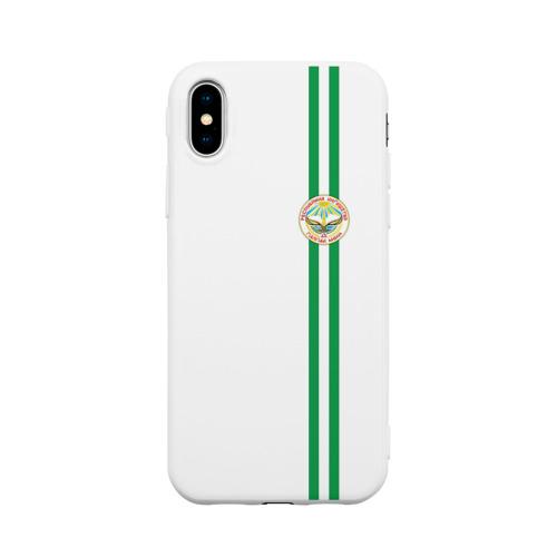 Чехол для iPhone X матовый Ингушетия, лента с гербом