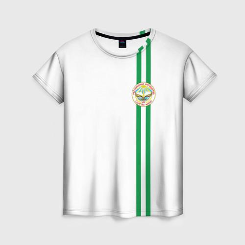 Женская футболка 3D Ингушетия, лента с гербом
