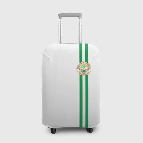 Чехол для чемодана 3D Ингушетия, лента с гербом