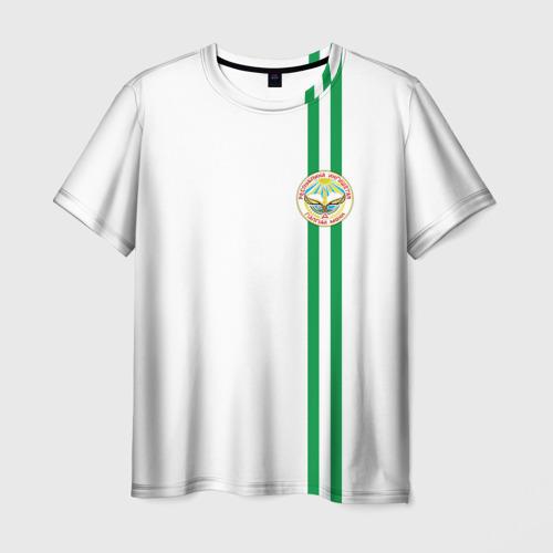 Мужская футболка 3D Ингушетия, лента с гербом