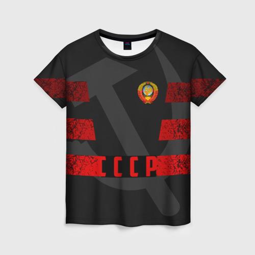 Женская футболка 3D Символы СССР