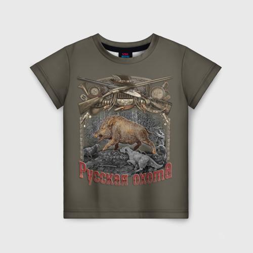 Детская футболка 3D Русская охота